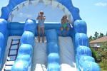 The giant slide was a big hit